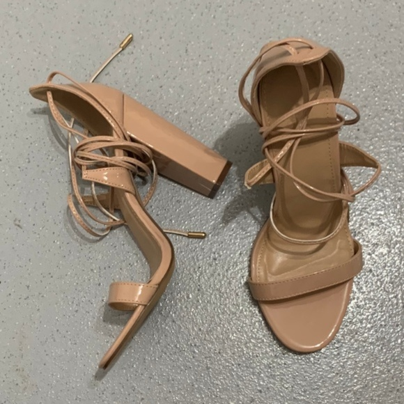 8d77bd08056 Charlotte Russe - Cassie Lace Up Heel - Nude